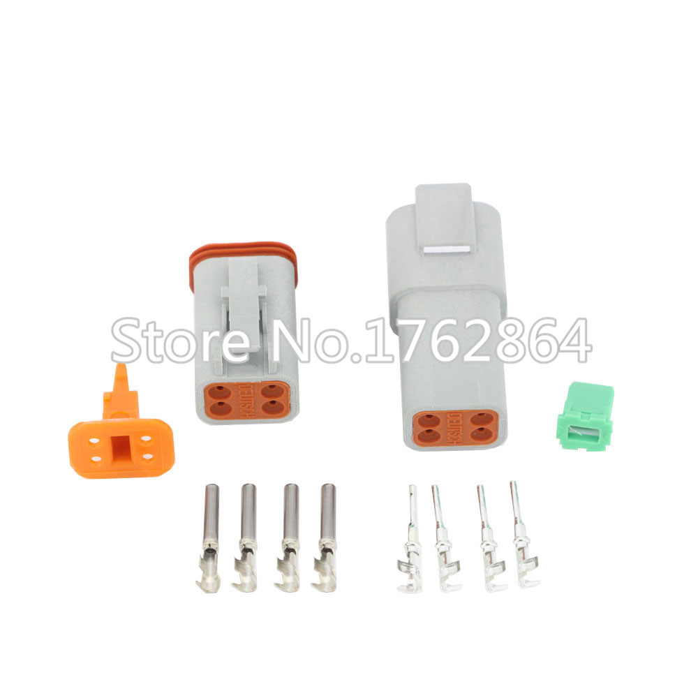 50 Sets DJ3041Y-1.6-11/21 Deutsch Connectors 4 Pin DT04-4P/DT06-4S Automobile waterproof wire electrical connector plug 22-16AWG black 50 sets 4 pin dj3041y 1 6 11 21 deutsch connectors dt04 4p dt06 4s automobile waterproof wire electrical connector plug