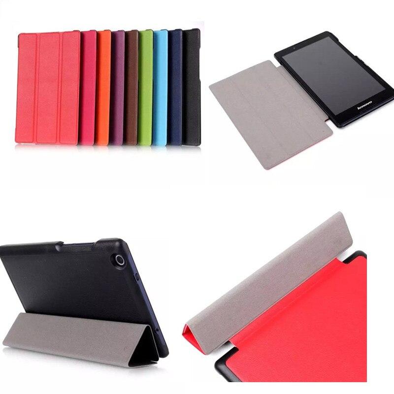 Чехол для планшета для Lenovo Tab 2 A8 три раза карст зерна магнитных кожа + Пластик осн ...