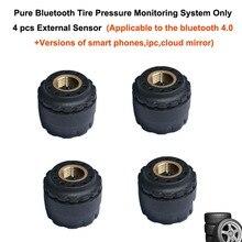 Intelligent Pure Bluetooth Tire Pressure Monitoring System 4pcs External Sensor