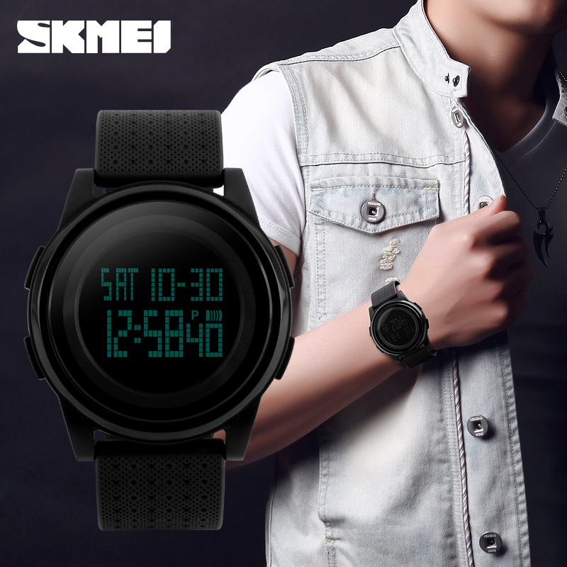 2018 New Skmei Brand Men LED Digital Military Watch c71e8f1083