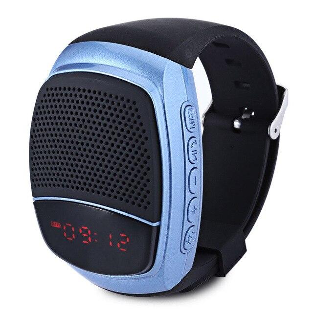 Смарт часы Bluetooth спорта на открытом воздухе Динамик Портативный TF FM радио-будильник Фитнес трекер телефон Smartwatch на запястье взрослых кольцо