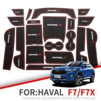 ZUNDUO tapis de fente anti-dérapant pour porte Haval F7 2019 F7X porte-gobelet intérieur tapis antidérapants accessoires autocollant de voiture