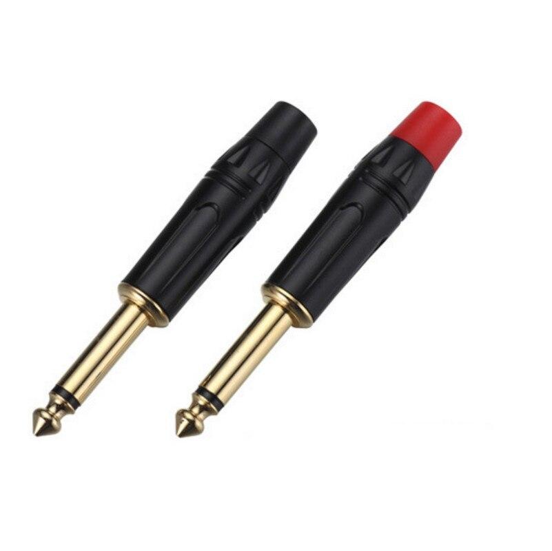 Hurtownie 100 sztuk/partia wysokiej jakości męskie proste TS 1/4 mono 6.35mm wtyczka z gold plating) w Złącza od Lampy i oświetlenie na AliExpress - 11.11_Double 11Singles' Day 1