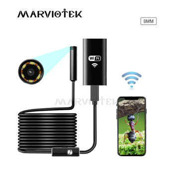 8mm Mini WIFI Endoscope Camera Soft Cable Waterproof  Inspection Camera USB Endoscope Borescope IOS Endoscope Camera For Iphone - DISCOUNT ITEM  55% OFF All Category
