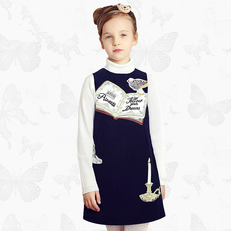 Toddler Girls Dresses Children Clothing 2017 Brand Princess Dress for Girls Clothes Fish Print Kids Beading Dress 1 18 arte lamp спот arte lamp focus a5219ap 2ab