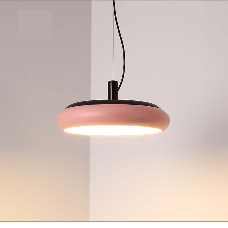 Ceiling Lights & Fans Smart Restaurant Led Pendant Light Modern Single Head Round Originality Led Living Room Bedroom Pendant Lamps Pink Yellow Za45418 Making Things Convenient For The People