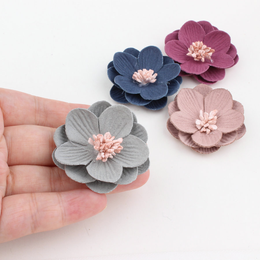 Shoe ornament clips - Trendy New Handmade Suede Fabric Water Lily Flower Craft Ornament Hair Jewelry Clips Headband Garment Shoes