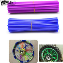 Universal Motorcycle Dirt Bike Enduro Off Road Wheel Rim Spoke Shrouds Skins Covers FOR KAWASAKI500 KX 450 KLX250 KLX450R KLR650