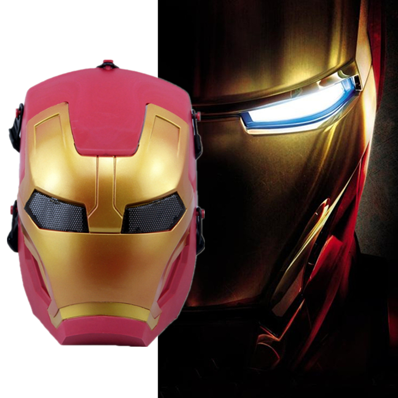 Marvel Film and Television Periphery Iron Man Mask Cosplay Prop Accessories Masquerade Halloween Mask Dress Up