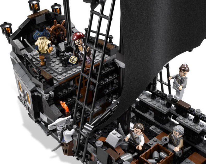 CX Models building toy kits 804 pcs Building Blocks Compatible with lego 4184 Pirates of the Caribbean The Black Pearl Ship