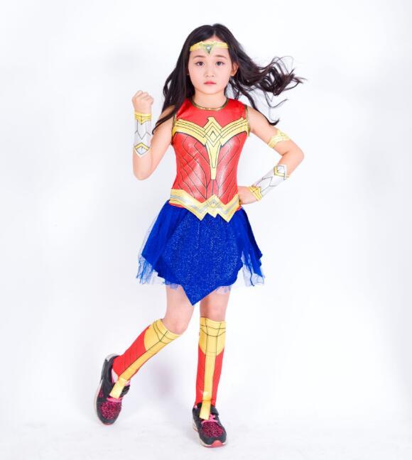 Childs Wonder Woman Costume Deluxe Girls Heroes Cosplay -1096