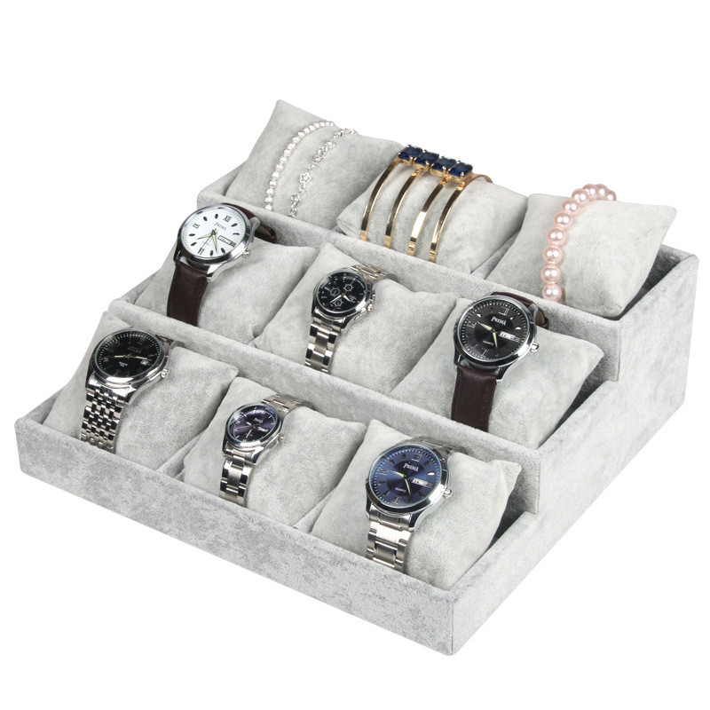 Professional Velvet Jewelry Display Holder Organizer Storage For Bracelet Chain Bangle Watch fashion wrist watch box jewelry bangle bracelet display storage holder organizer