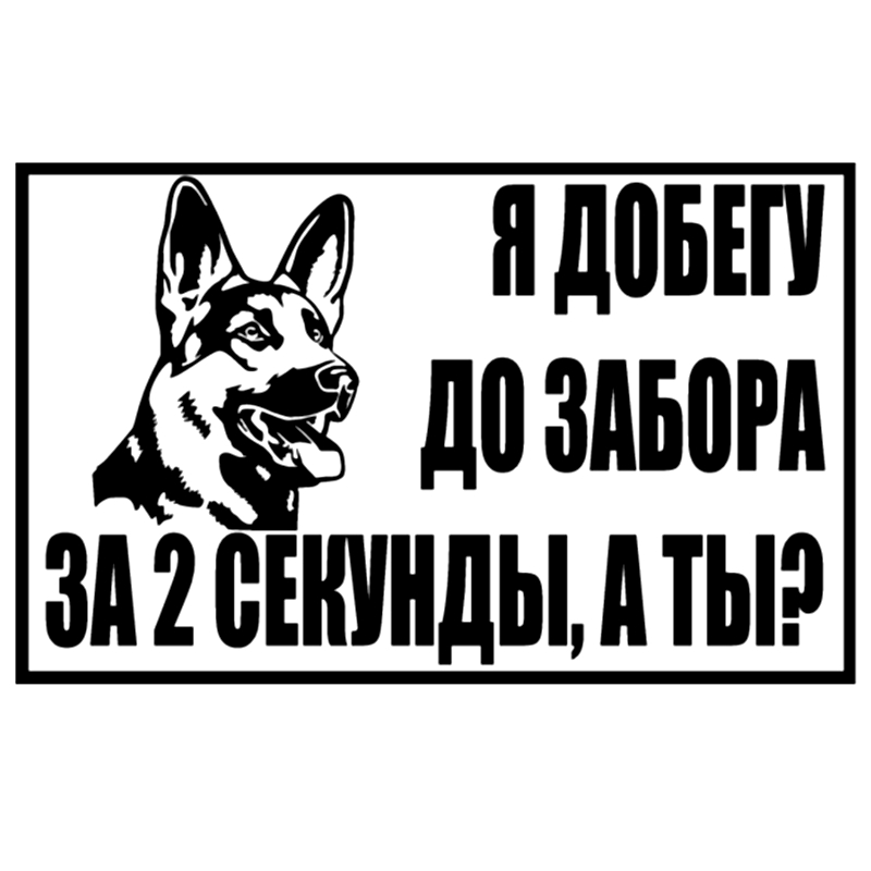 CS-1411#22.6*14cm I Will Reach The Fence Funny Car Sticker Vinyl Decal Silver/black For Auto Car Stickers Styling