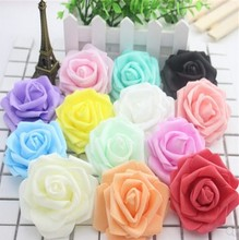 20pcs Multicolor Foam Rose Flower Head Artificial Bouquet Handmade Wedding Home Decoration Festive Party scrapbook 6CM