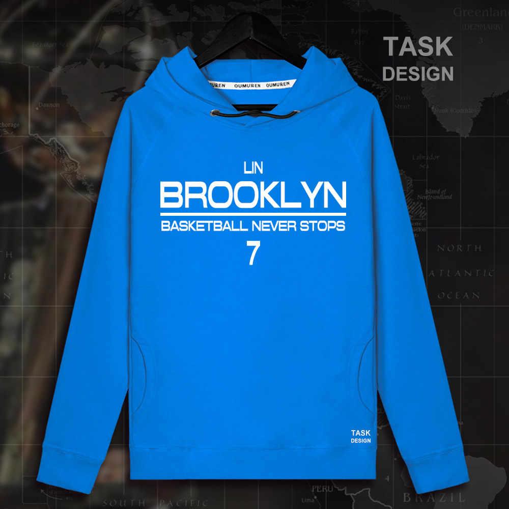 bad94587cc1 ... Jeremy Shu-How Lin Brooklyn basketballer star pullovers hoodie  sweatshirt Linsanity clothes sportswear Nets streetwear ...