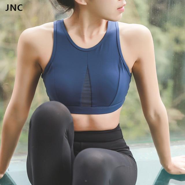 JNC Mulheres Esportes Malha Respirável Sutiã Sem Encosto Em Execução De  Fitness Impulso Sutiãs UP Acolchoado c4a0d14abf5c1