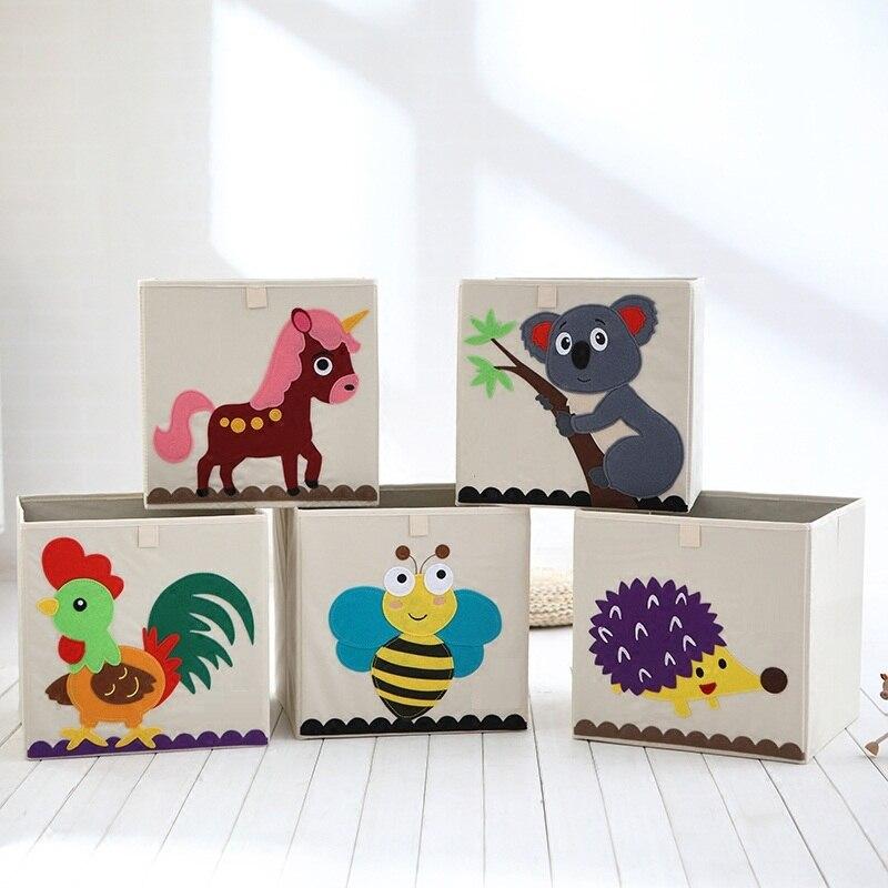 Cute Animal Collapsible Toy Storage Organizer Folding: Aliexpress.com : Buy 3D Embroider Cartoon Animal Folding