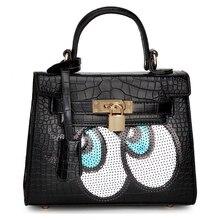 Fashion 2015 Designers Cute Big Eyes Sequins Girls Small Shoulder Bag Women Crossbody Messenger Bags Bolsa Feminina Handbag