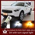 Guang Dian carro levou luz de circulação diurna luz & Frente Virada sinais de luz 20 W 7440 T20 WY21W Para Infiniti FX35 2009-2013 FX FX37