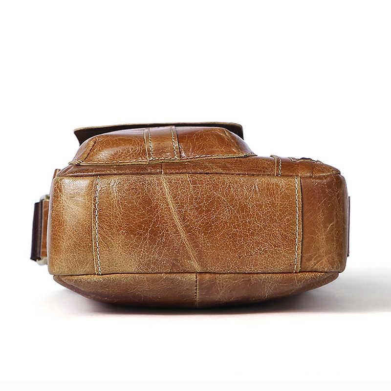 6d9b7ab8c4 ... WESTAL Men s Bags Genuine Leather Messenger Bag Men Vintage Crossbody  Bags for Men ipad Flap Leather ...