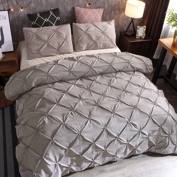 Bedding Sets Quilt Cover Home Hotel Gray Luxury Duvet Cover New Polyester Fiber Gift high heels