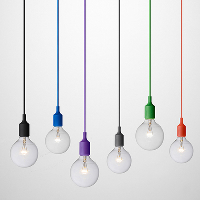 colorful pendant lighting. Colorful Pendant Lights E27 Silicone Lamp Holder Lamps 11 Colors DIY Home Decoration Lighting 100cm
