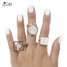 цены Women Rings Finger Ring Personality Marble Lines Round Square Rings For Women Girl Fashion Jewelry Gifts Accessories A30