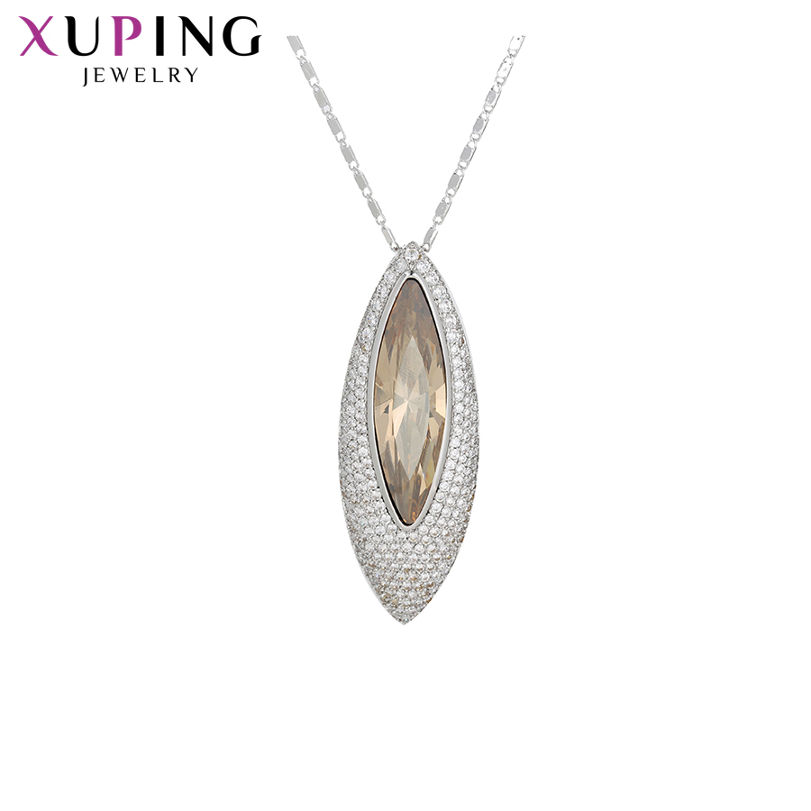 Xuping Necklace Jewelry Exquisite Style Crystals from Swarovski Beautiful Special Family Gift for Women S143.3 45220
