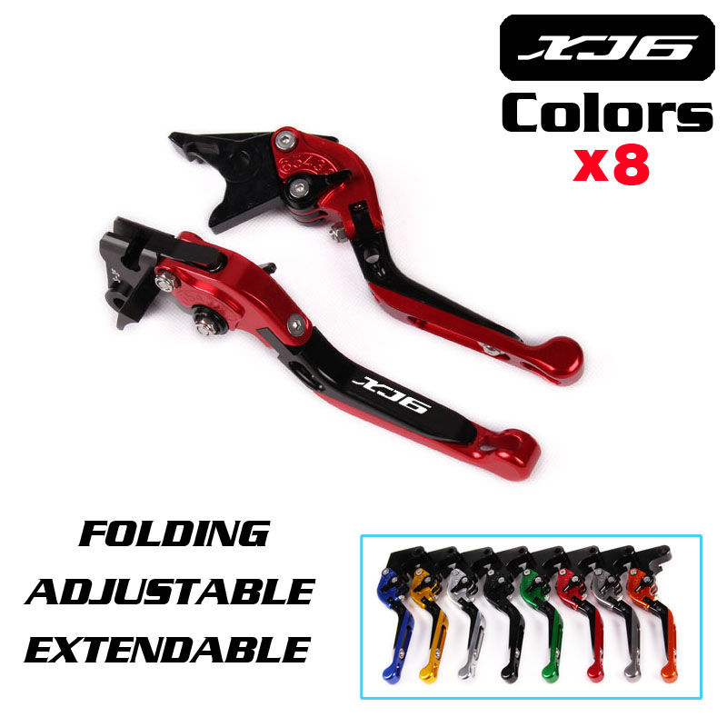 For YAMAHA XJ6 DIVERSION XJ6DIVERSION XJ 2009-2014 FREE SHIPPING Motorcycle Adjustable Folding Extendable Brake Clutch Lever with logo xj6 cnc new adjustable motorcycle brake clutch levers for yamaha xj6 diversion xj6diversion xj 2009 2014
