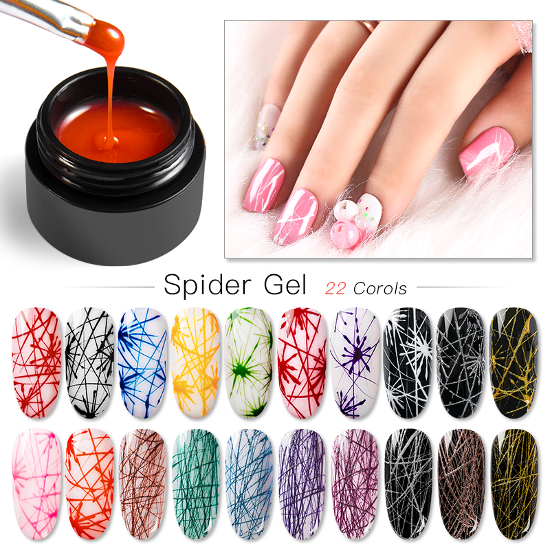 5ml Spider Gel Creative Wire Drawing Nail Gel Lacquer Point To Line Painting Gel Polish Elastic Line Drawing Nail Gel Spider