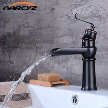 Стиль черный водопад раковина кран для ванной кран для раковины ORB латунный черный водопад смеситель горячей и холодной воды кран B548