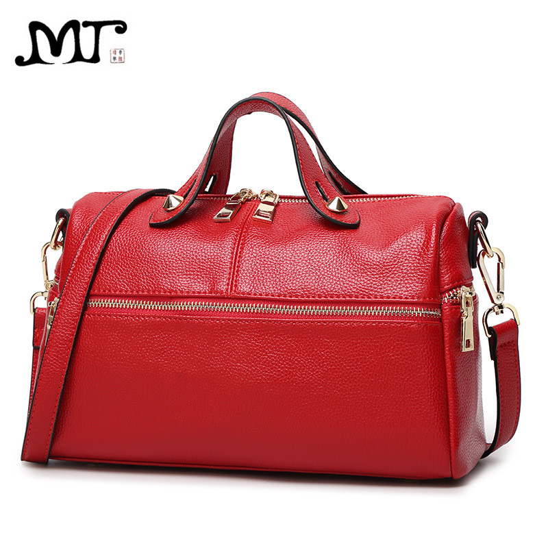 MJ Leather Bags Women PU Leather Boston Handbag Female Messenger Bags Ladies Crossbody Bag Big Tote Shoulder Bag Large Capacity genuine leather shoulder bags for women large capacity messenger crossbody bag female leather tote bag ladies handbag