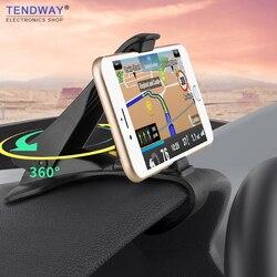 Tendway Автомобильный держатель для телефона, крепление на приборную панель, универсальная подставка, зажим для мобильного телефона, gps кроншт...