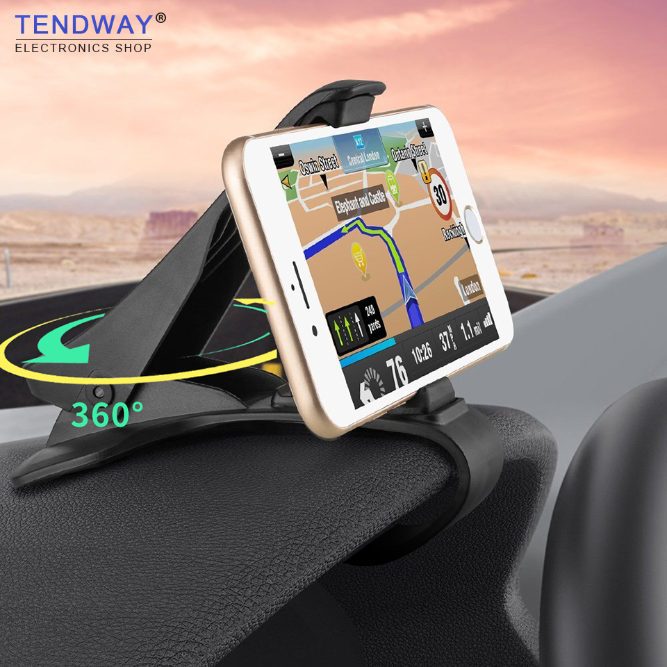 Tendway Car Phone Holder Dashboard Mount Universal Cradle Cellphone Clip GPS Bracket Mobile Phone Holder Stand for Phone in Car