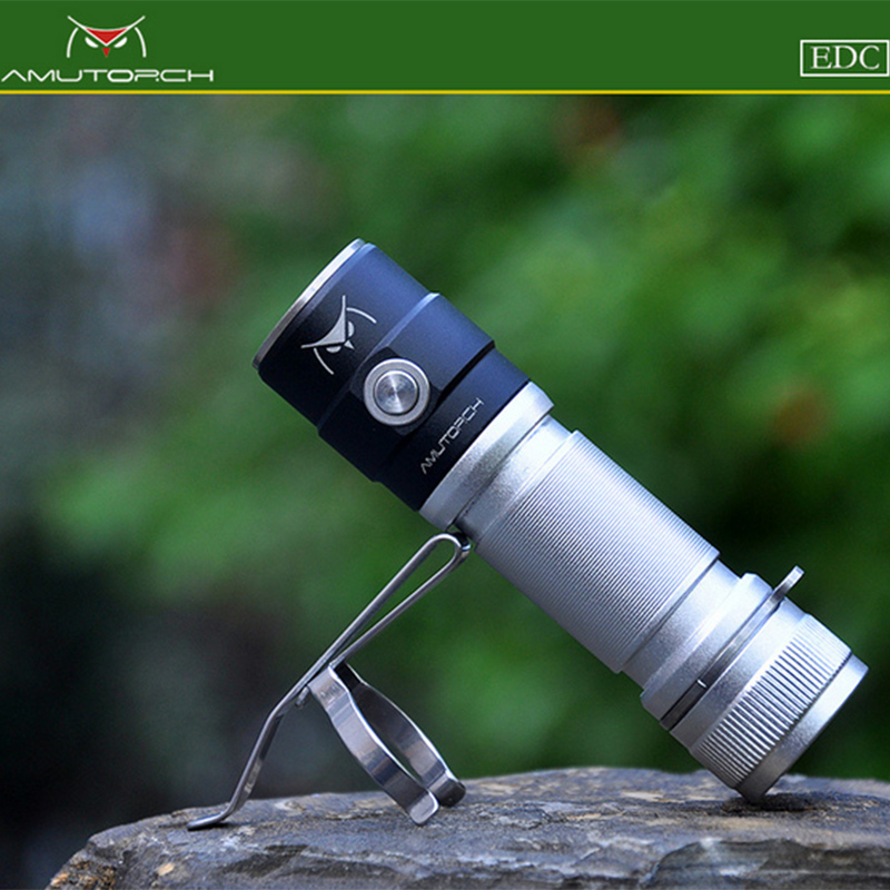 Amutorch AX2 XPL HD 1200LM Плавная затемнения 18650/16340 EDC светодио дный фонарик