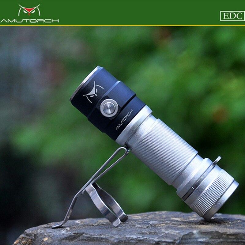 Amutorch AX2 XPL HD 1200LM Stepless Dimming 18650/ 16340 EDC Led flashlight