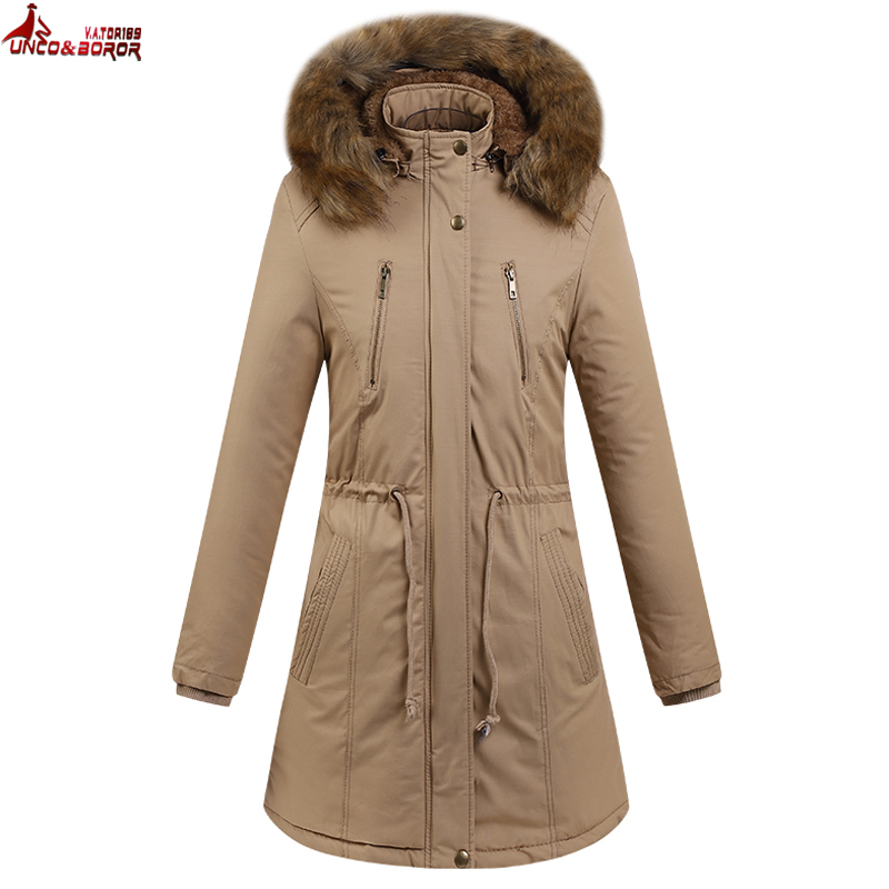 Autumn Winter Women Coat Windproof thick fleece Washed Cotton Thick Outdoor Hiking Jacket Warm military Hooded long parka coat water resistant cosmetic makeup liquid eyeliner thick pen black