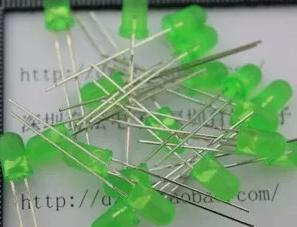 Gorąca wyprzedaż! darmowa dostawa! 5 MM długonogie zielone włosy zielone jasne rurka LED LED włókno światłowodowe LED zielony zielona dioda LED tanie i dobre opinie standard Piłka