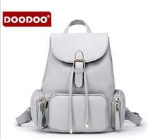 Doodoo 2017 новая сумка высокого качества пу кожа простой дизайнер дорожная сумка рюкзак девушки школа bagpack mochila fr374