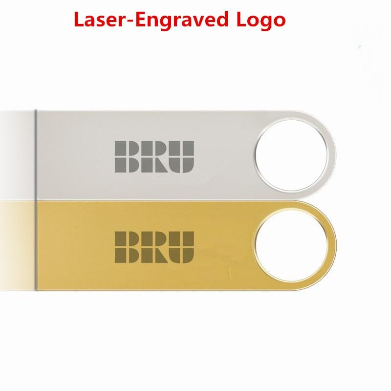 BRU 8GB USB Flash Drive Mini Metal արծաթե անջրանցիկ - Արտաքին պահեստավորման սարքեր - Լուսանկար 5