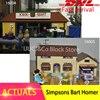 LEPIN 16004 16005 316pcs Simpsons Bart Homer The Kwik E Mart Model Building Blocks Bricks Toys