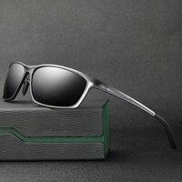 2018 Hot Mens Aluminum Magnesium Alloy Full Frame Polarized Sunglasses Fashion Polarised Men Car Driving Glasses Goggles
