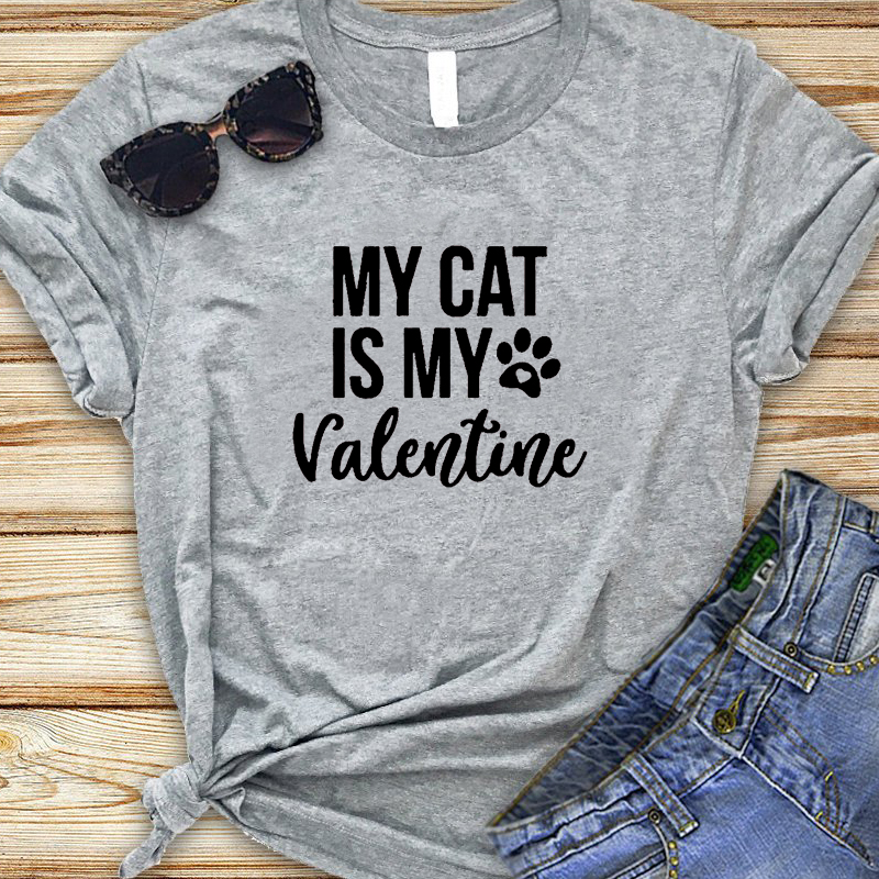 My Cat Is My Valentine T-Shirts