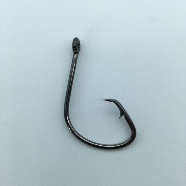 50pc 7381 Fishing Hooks Black Color Octopus/Circle Sport Circle Fish Hook Jig Big 1# 1/0# 2/0# 3/0# 4/0# 5/0# Size Bass