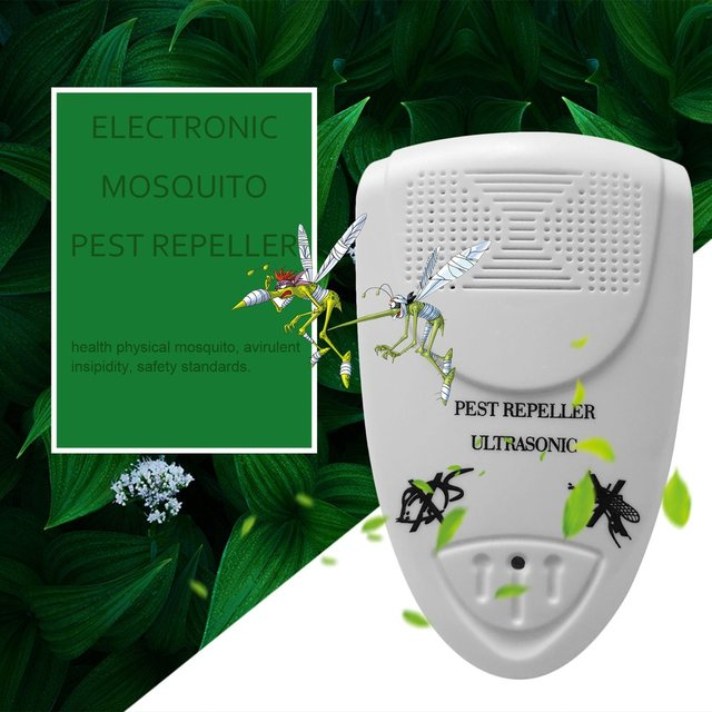 Electronic Ultrasonic Indoor Anti Mosquito Insect Pest Killer Magnetic Repeller White