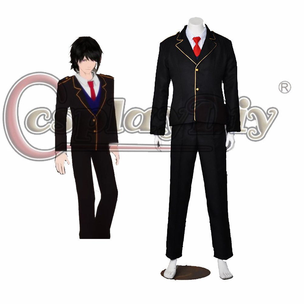Cosplaydiy RWBY Beacon Academy Male Cosplay School Uniform For Halloween Carnival Party Custom Made D0518