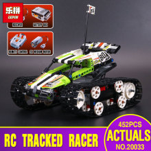 Lepin 20033 452pcs Technic Series The RC Track Remote-control Race Car Set Educational Building Blocks Bricks Toys 42065