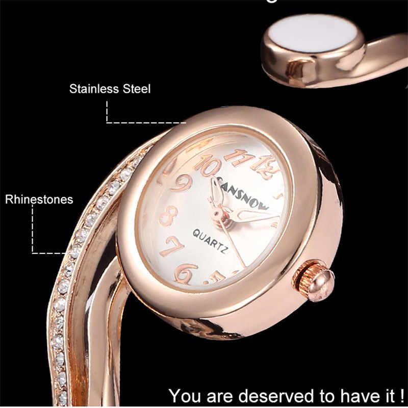 Reloj Mujer יוקרה רוז זהב חיוג נשים שעונים מלא פלדה אנלוגית קוורץ שעוני יד חם Montre Femme 2019