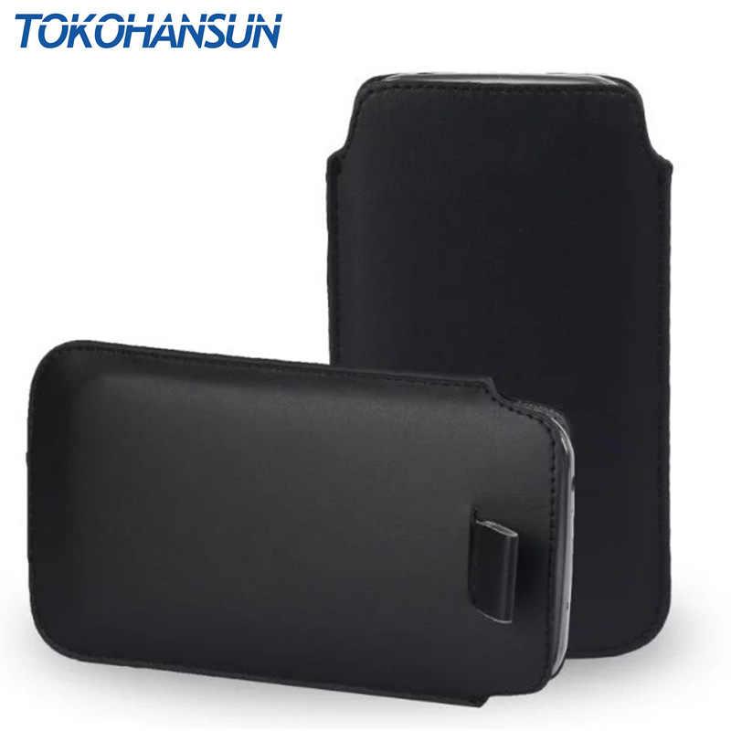 TOKOHANSUN Evrensel telefon kılıfı Ulefone U008 S9 S8 S7 Pro MIX S Metal Saf Lite Olması PU Deri Kılıfı Kapak çanta Kılıfları
