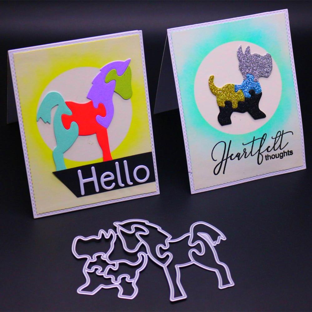 VCD36 ANIMALS CUT SCRAPBOOK Metal Cutting Dies For Scrapbooking Stencils DIY Album Cards Decoration Embossing Folder Die Cuts in Cutting Dies from Home Garden